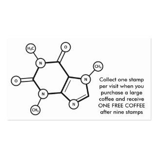 estructura molecular del cafeína tarjetas de visita