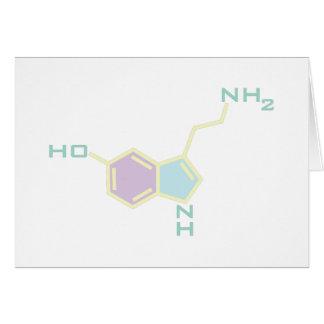 Estructura química de la serotonina tarjeta de felicitación