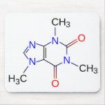 Estructura química Mousepad del cafeína Tapete De Raton