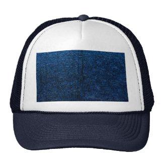 estructura tejida, azul gorra
