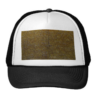 estructura tejida, de oro gorra
