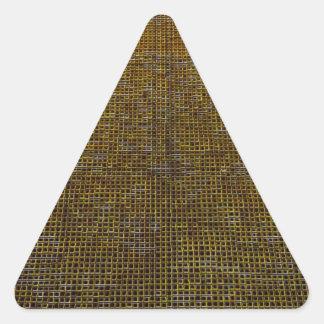 estructura tejida, de oro pegatina triangular