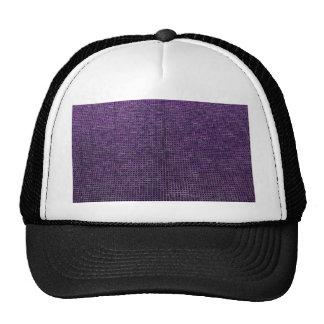 estructura tejida, púrpura gorras