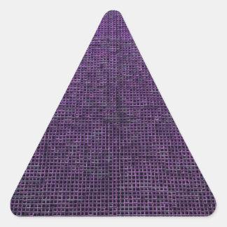 estructura tejida, púrpura pegatina triangular