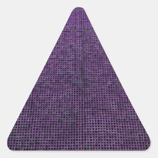 estructura tejida, púrpura colcomanias triangulo