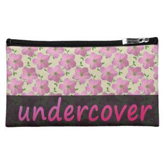 Estuche De Maquillaje Flores rosadas secretas florales en cualquier