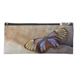 Estuche pluma egipcia del ganso de la mariposa del