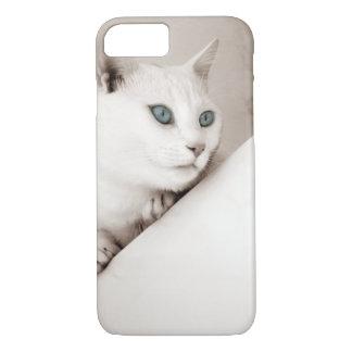Estuche rígido lindo del iPhone 7 del gato animal Funda iPhone 7