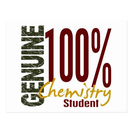 Estudiante auténtico de la química tarjetas postales