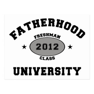 Estudiante de primer año 2012 de la paternidad postales