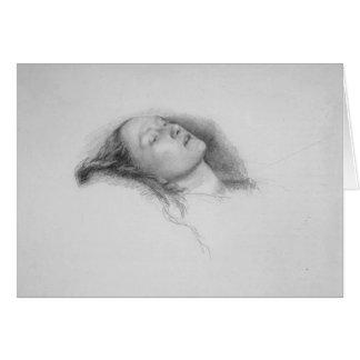 Estudio de Juan Everett Millais- para Ofelia Tarjeta