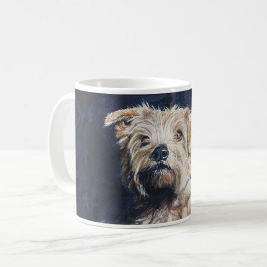 Estudio de la cabeza de Norfolk Terrier Taza De Café