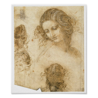 Estudio de la mujer para Lost que pinta a Leda, da Póster