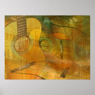 Estudio dos 2016 de la guitarra póster