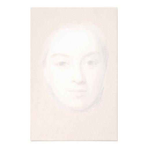 Estudio para el retrato de la mujer por viaje del  papelería
