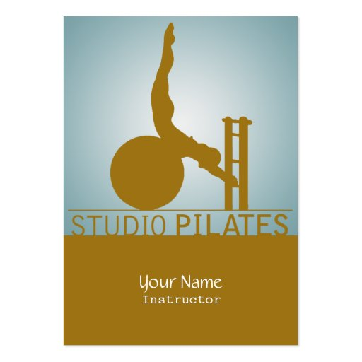 Estudio Pilates - negocio, tarjeta del horario Tarjeta De Visita