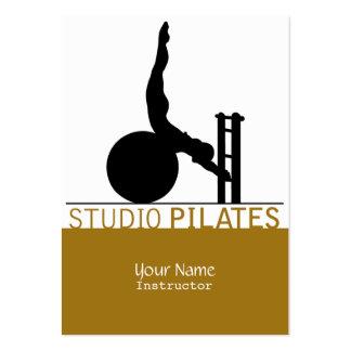 Estudio Pilates - negocio, tarjeta del horario Plantilla De Tarjeta De Visita