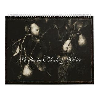 Estudios del ~ del calendario en negro y blanco