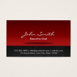 Etapa roja elegante de abastecimiento del cocinero tarjeta de negocios