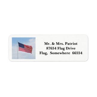 Etiqueta 2017 de la bandera del Memorial Day Etiqueta De Remitente