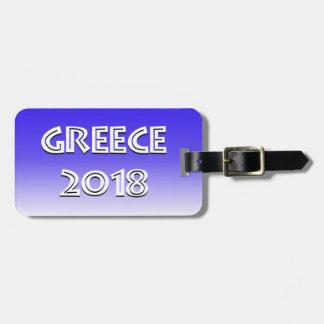 Etiqueta 2018 del equipaje de Grecia