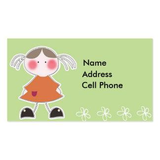 Etiqueta A1 del regalo de los niños Tarjetas De Visita