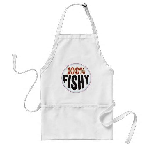 Etiqueta a pescado delantal