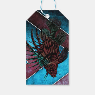 Etiqueta abstracta del regalo de los pescados del etiquetas para regalos