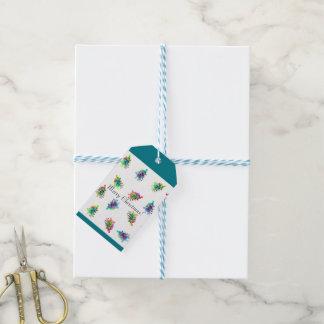 Etiqueta abstracta del regalo del árbol de navidad