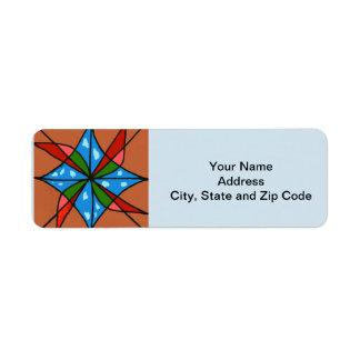 Etiqueta abstracta del remite del diseño, molinoes etiquetas de remite