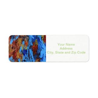 Etiqueta abstracta del remite del diseño, otoño