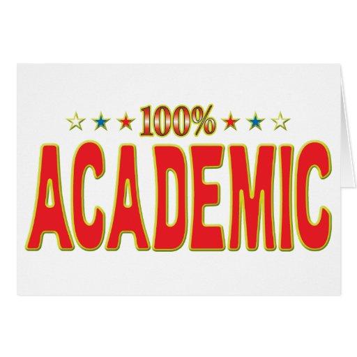 Etiqueta académica de la estrella tarjeta