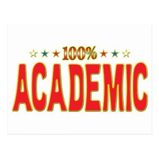 Etiqueta académica de la estrella tarjeta postal