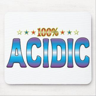 Etiqueta ácida v2 de la estrella tapete de ratón