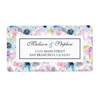 Etiqueta Acuarela del ramo floral - boda