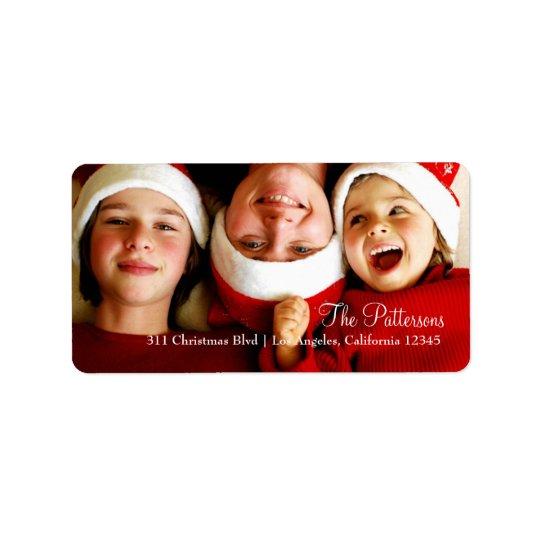 Etiqueta adaptable de la foto de 311 navidad