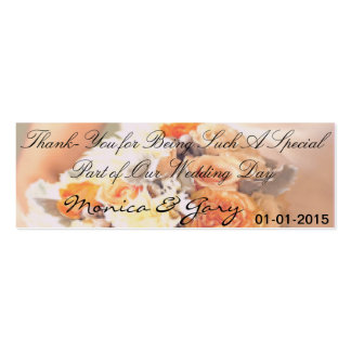 Etiqueta adaptable del de agradecimiento de tarjetas de visita mini