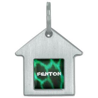 Etiqueta adaptable del mascota de Fenton Placa De Nombre De Mascota