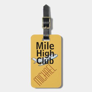 Etiqueta adaptable divertida del equipaje del alto