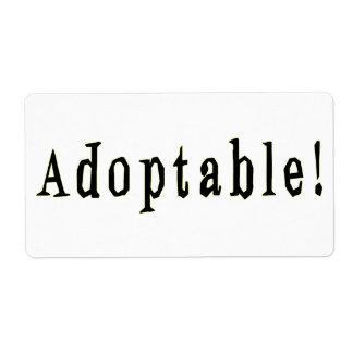 Etiqueta adoptable