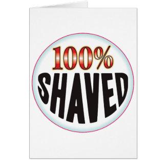 Etiqueta afeitada tarjeton