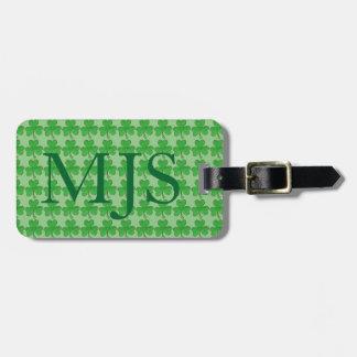 Etiqueta afortunada irlandesa verde del bolso del