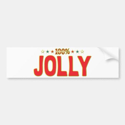 Etiqueta alegre de la estrella etiqueta de parachoque
