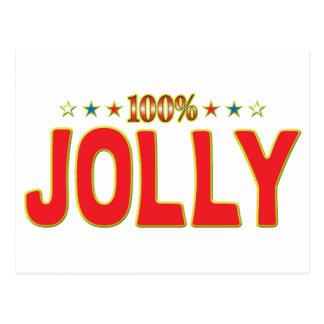 Etiqueta alegre de la estrella postal
