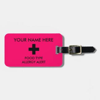 Etiqueta alerta de la identificación de la alergia