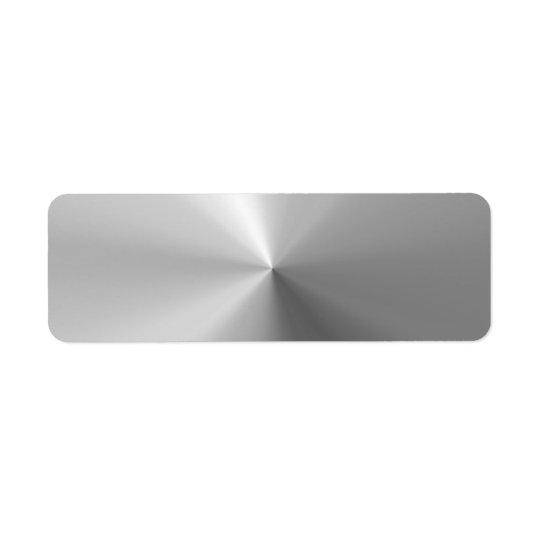 Etiqueta Aluminio cepillado circular texturizado