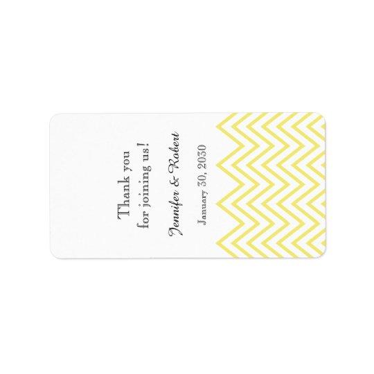 Etiqueta amarilla moderna del protector labial del etiqueta de dirección