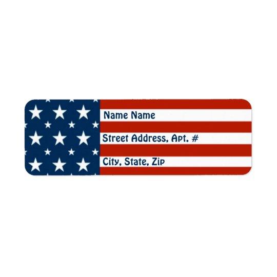 Etiqueta [Americano patriótico] bandera de las estrellas y