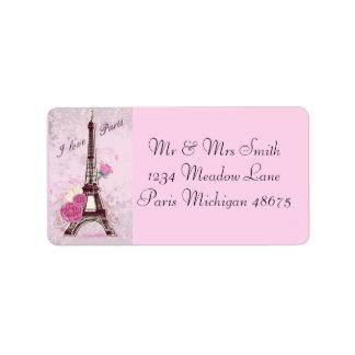 Etiqueta Amor París de la dirección Labels/I