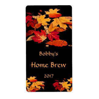 Etiqueta anaranjada roja de la cerveza de Brown Etiqueta De Envío